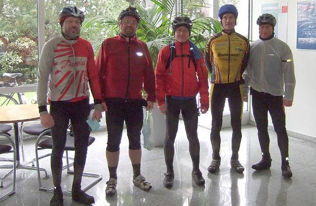 Meine Gruppe im Ziel (Foto: Audaxclub S-H)