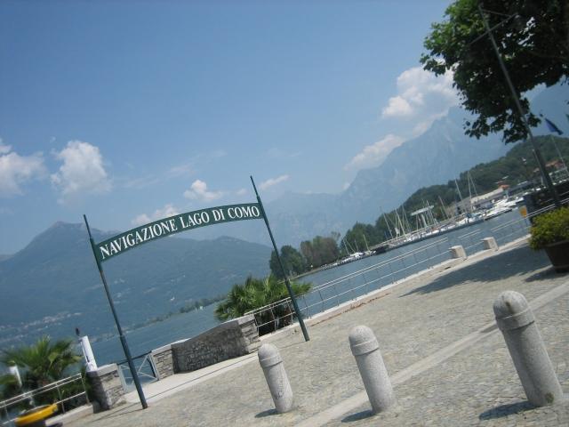 Colico, Comer See, Anlegestelle der örtlichen Schifffahrtsgesellschaft