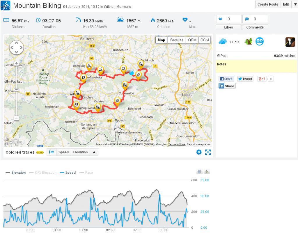 Mountain Biking 04 January, 2014, 10:12 in Wilthen, Germany