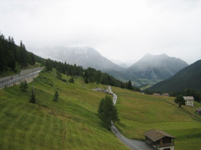 Arnoga: Blick aus dem Hotelfenster