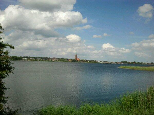Schlei-Fjord bei Schleswig mit Schleswiger Dom