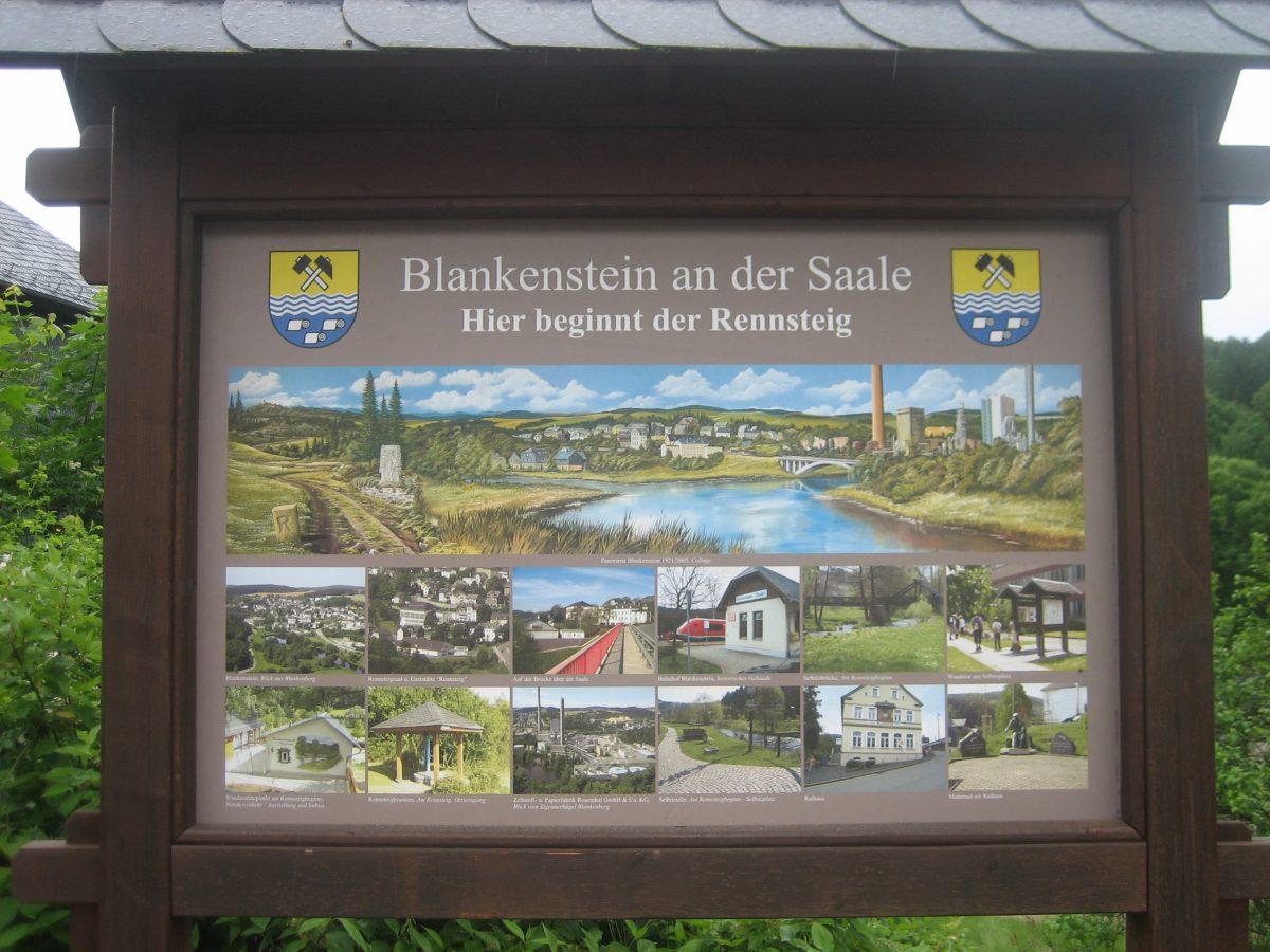 Blankenstein an der Saale / Rennsteig.