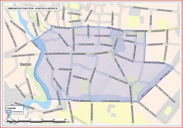Kontrollbereich Innenstadt Bautzen 16. bis 26.09.2016 10:00 Uhr.