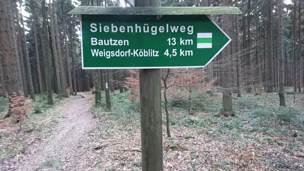 Siebenhügelweg am Bieleboh.